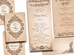 cheap vintage wedding invitations with unique motifs elite