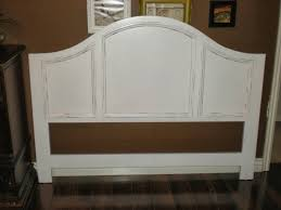 bedroom white wood headboard queen ana reclaimed arched bright