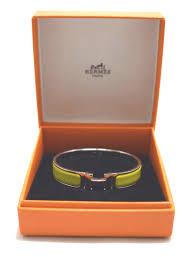 hermes bracelet images Hermes clic clac h bangle bracelet lime green enamel silver tone jpg