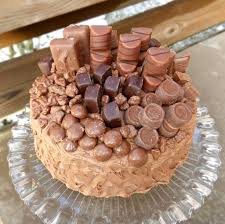 chocolate overload cake with a nutella cream cheese frosting