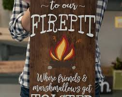 Fire Pit Signs by Anniversary Gift Family Names Wood Sign Personalized