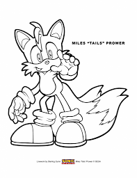 coloring pages tails page the fox doll sonic lightofunity for