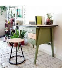 bureau d ecolier brocante vintage bureau d écolier ées 50 rénové vert mat 4