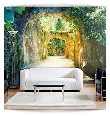 Schlafzimmer Fototapete Vlies Fototapete 3d Tunnel Tapete Tapeten Schlafzimmer Wandbild