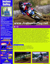 motocross bike sizes resume joshua guffey mx u0026 sx motocross supercross dirt bike rider