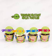 marron studio teenage mutant ninja turtles inspired cupcake