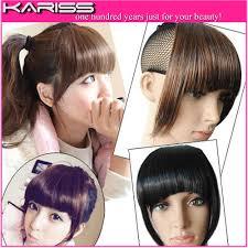 hair clip poni kariss high quality front bangs fringe hair clip in hair bangs