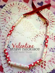 valentine kids craft diy necklace the taylor house