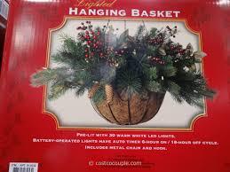 christmas hanging baskets with lights led lighted hanging basket