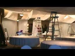 Chiffon Ceiling Draping Wedding Reception Decoration White Ceiling Treatment Youtube