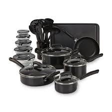 home pans essential home ttu u1239 25 piece mega cookware set sears outlet