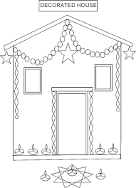 house colouring diwali festival coloring pages