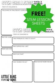 stem challenge worksheets free printable bins