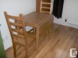 Ikea Drop Leaf Table Ikea Leksvik Drop Leaf Table And 2 Kaustby Chairs Plateau For