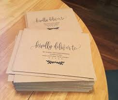 wedding envelope my diy story rustic straw kraft wedding invitation cards