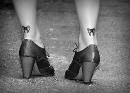 small bow tattoos on both ankles tattooshunt com