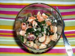 salicorne cuisine salade de crevettes et pousse salicorne à la mode
