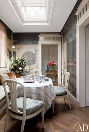 271 best dining rooms images on pinterest dining room french warm hues create an inviting atmosphere in the dining room of michael s smith s manhattan