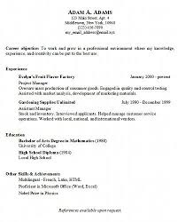 basic resume exles simple resume exles easy resume sles 16 a simple resume