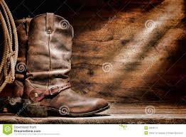 american motorcycle boots american west rodeo cowboy boots and western spurs stock image
