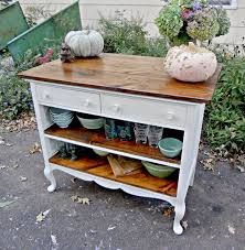 buffet kitchen island small chests repurposed as kitchen island antique dresser turned