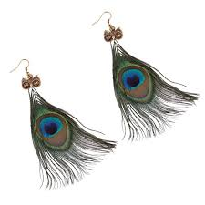 peacock feather earrings peacock feather earrings zoo lou bloom