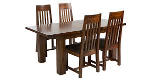 Dfs Dining Room Furniture Shiraz Small Extending Dining Table Set Of 4 Slat Back Chairs