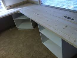 Wooden Corner Desk Plans by Diy L Shaped Computer Desk L Shaped Reclaimed Wood Corner Desk Top