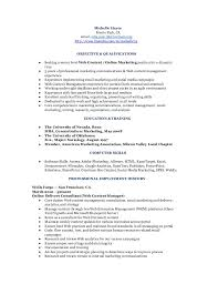 social media analyst sample resume assistant marketing manager