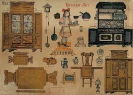 dolls house kitchen furniture vintage paper dolls and furniture by doll house paper paper