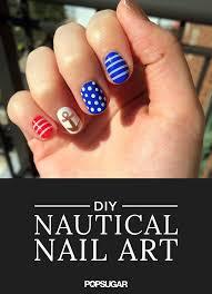 nautical nail art how to popsugar beauty