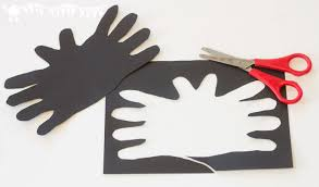 halloween bat handprint craft kids craft room