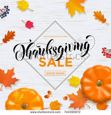 thanksgiving sale autumn special promo offer stock vector