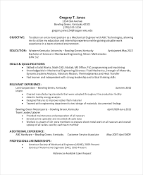 Best Internship Resumes by Engineering Resume Templates Technical Engineering Resume 7