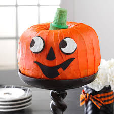 Halloween Cake Stands Jack O U0027 Lantern Cake Recipe Taste Of Home