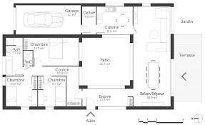 plan maison en l plain pied 3 chambres plan maison plain pied 3 chambres gratuit plan maison 3 chambres