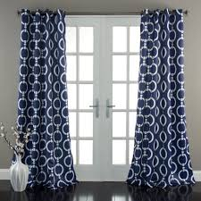Navy Patterned Curtains Uncategorized Navy Blue Patterned Curtains For Glorious