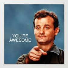 Murray Meme - buy bill murray you re awesome ghostbusters stripes canvas