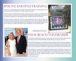 Lighthouse For The Blind Palm Beach Annual Reports Deb Willard 561 385 3191