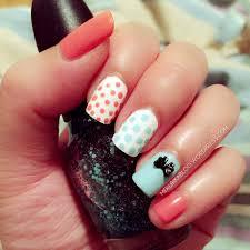 notd pastel polka dots 3d bow nail melrika blog