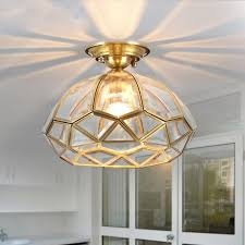 Traditional Ceiling Light Fixtures Cheap European Vintage Copper Cloakroom Ceiling Light