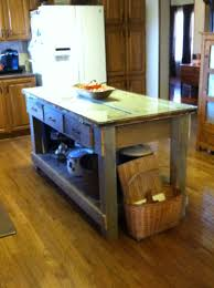 Diy Kitchen Island Pallet Kitchen Island Made From Old Barn Wood Pallet Wood And My