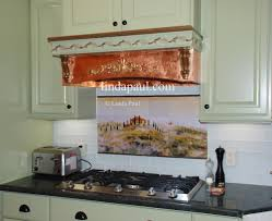 Copper Tiles For Kitchen Backsplash Tuscan Tile Murals Kitchen Backsplashes Tuscany Art Tiles