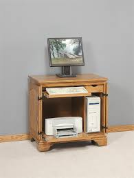 Small Wood Computer Desk Amish Miniature Computer Armoire Computer Armoire