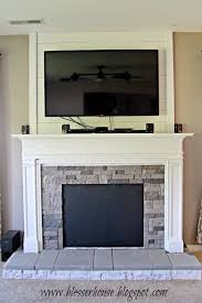faux fireplace progress blesser house featured on remodelaholic