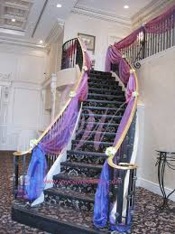 stair drapery decoration for wedding decoration wedding and