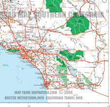 Hollywood Usa Map by Road Map Of Southern California Including Santa Barbara Los