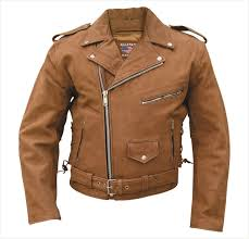Mens Brown Leather Motorcycle Jacket With Zip Out Liner U0026 Side