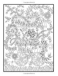 hidden garden coloring book secret forest animals