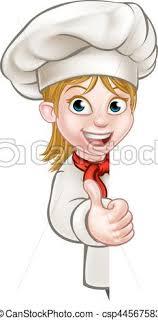 chef de cuisine femme chef cook chef or baker vector